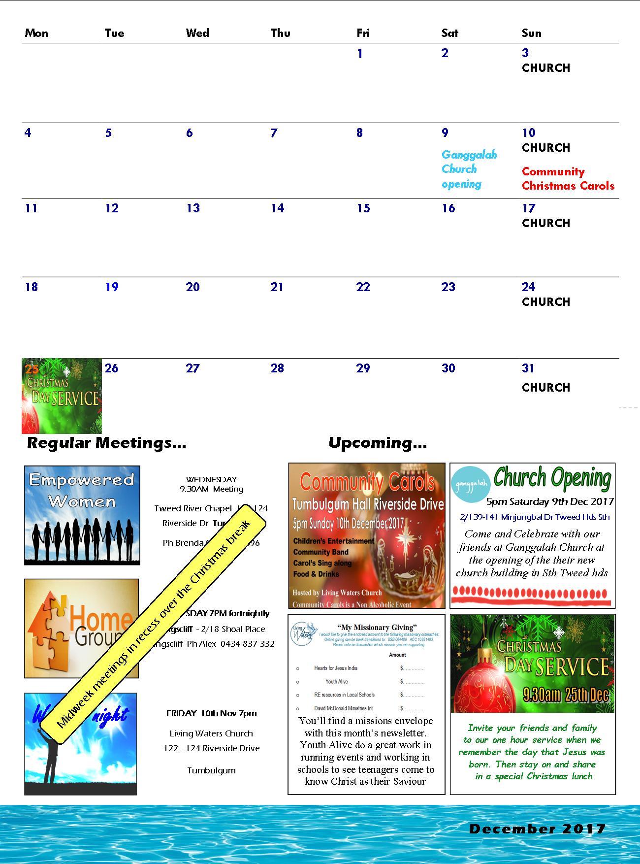 Tumby newsletter Dec 2017